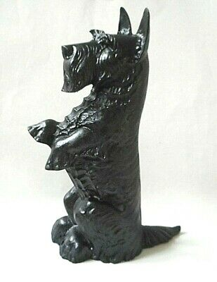 Antique Heavy Cast Iron Metal Scottie Scottish Terrier Dog Door Stop Stopper 17""