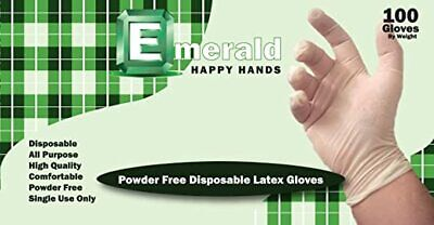 Latex Gloves 100 Count Powder Free All Purpose Use