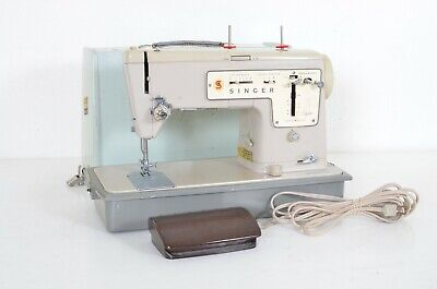 Singer Zig Zag 457 Stylist Sewing Machine w/ Pedal Case Tested Working Nice J