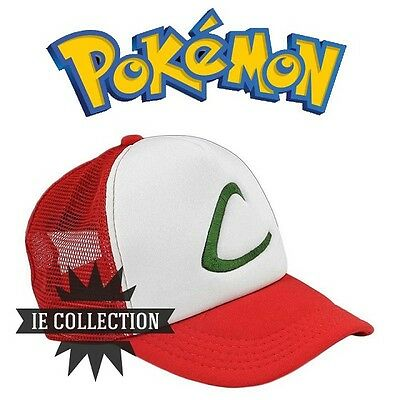 Pokemon Go Ash Hat Cosplay Beanie Hat Cap Snapback Ketchum Hut XY Plus