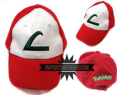 Pokemon Ash Hat Cosplay New Beanie Hat Cap Snapback Ketchum Hut XY