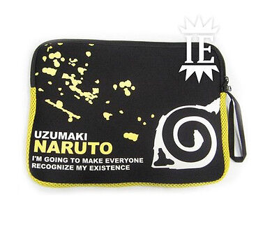 Naruto Bag Pouch Notebook Tablet Purse Sac Bag Shippuden Leaf