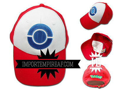 Pokemon Ash Hat Cosplay New Beanie Hat Cap Snapback Ketchum x Y Red