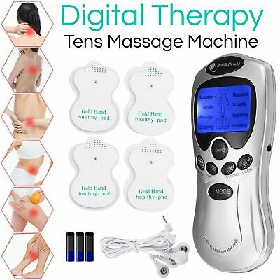 4 Pads Tens Machine Digital Therapy Full Body Massager Pain Relief Acupuncture