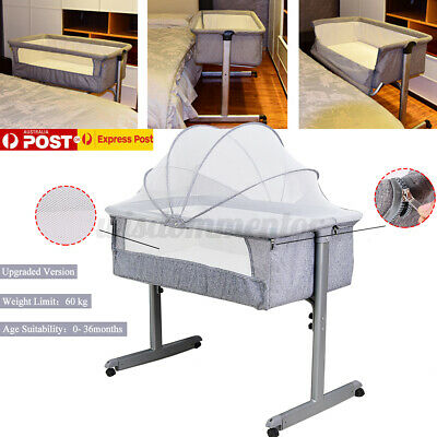 Baby Crib Cot Co Sleeping Sleeper Bassinet Bedside Bed Infant Side Newborn UK