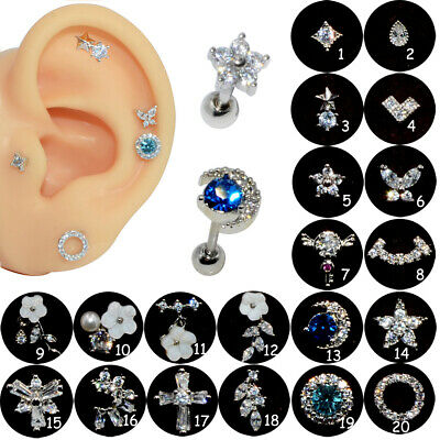 Cartilage Earring Conch Tragus Stud Helix Cartilage Piercing Jewelry 20G(0.8mm)