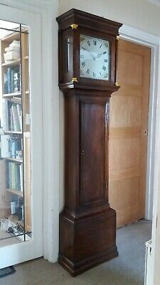 Antique Georgian 30 hour oak longcase clock