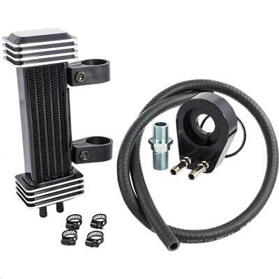 Jagg 762-1000 Vertical 6 Row Oil Cooler - Deluxe - Black