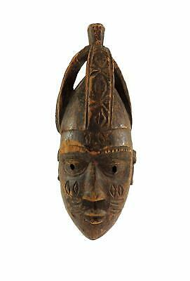 Yoruba Mask with Crown Nigeria African Art