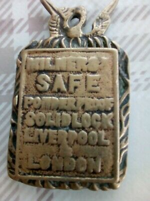 ANTIQUE MILNERS SAFE LOCK KEY HOLE PLATE escutcheon LONDON LIVERPOOL powderproof