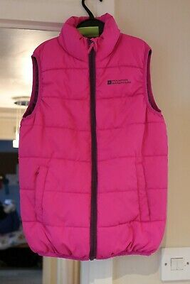 Mountain Warehouse pink body warmer gilet age 9-10 years