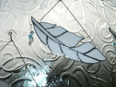 Stained Glass handmade Angel feather sun-catcher / window decoration
