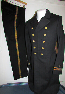 Beautiful USN Frock Coat & Trousers for a Naval Constructor Lieutenant