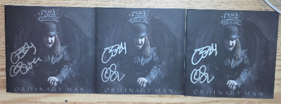 OZZY OSBOURNE Ordinary Man Deluxe 3 Softpack CDs + 3 AUTOPEN BOOKETS