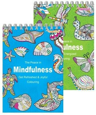 Adult Colouring Spiral Anti-Stress Adult Colouring Book Relax Mind best Pattern