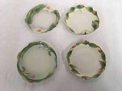 "Franz Porcelain Set Of 4 Floral 5 1/2"" Plates"