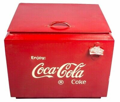 Vintage 1950's Antique Drink Coca-Cola In Bottles Cooler Cold Box IB 02