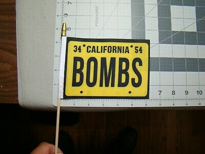 California Bombs car truck 4x6 inch flag for parade raza license plate topper