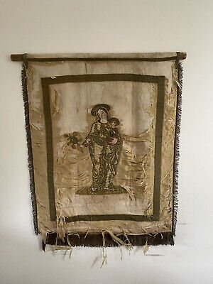 Antique Hand Loomed Wall Tapestry hanging 17th/18th Century style  85cm X 110cm