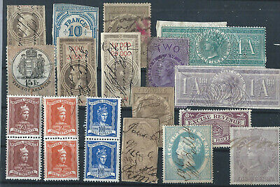 Old Lot - Revenue Stamps - Fiscals