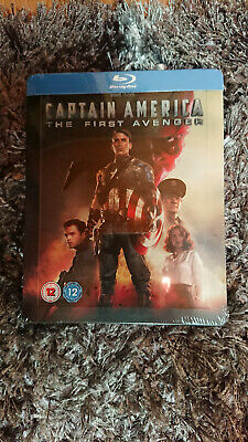 Captain America The First Avenger Steelbook Zavvi Marvel BLU RAY NEW SEALED