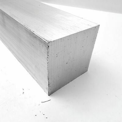 "4"" x 4"" Aluminum  6061 SQUARE Solid  FLAT BAR 13.5"" Long  sku K124"