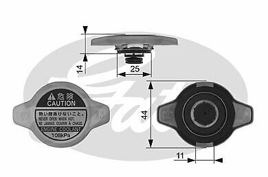 OPEL Radiator Cap Gates 4709376 93194271 Genuine Top Quality Replacement New