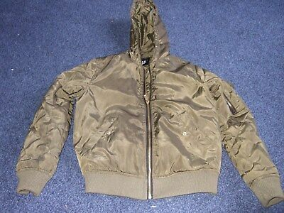 New Look 915, (age 9) green/brown hooded padded bomber style jacket