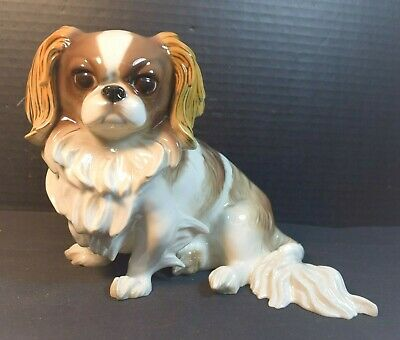 Antique St. Charles Spaniel Nympenburg Porcelain Dog