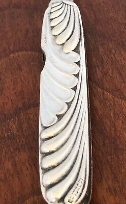 ~ Mappin Bros English Art Nouveau Sterling Silver Twin Bladed Pocket Knife