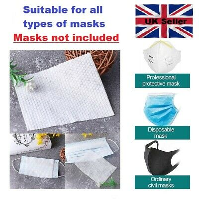 10 x Breathable Replacement Face Mask Filter Pads Non Woven Sheets