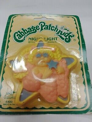 Vintage Cabbage Patch Kids Nightlight 1984 New In Boxes