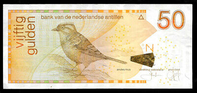 World Paper Money - Netherlands Antillen Curazao 50 Gulden 2013 @ Crisp VF-XF