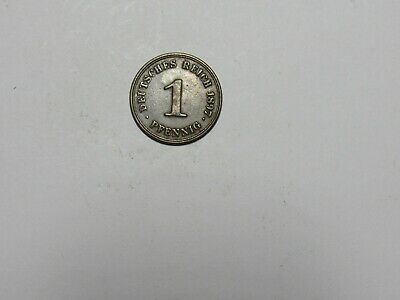 Old Germany Coin - 1897 A 1 Pfennig - Circulated, spots