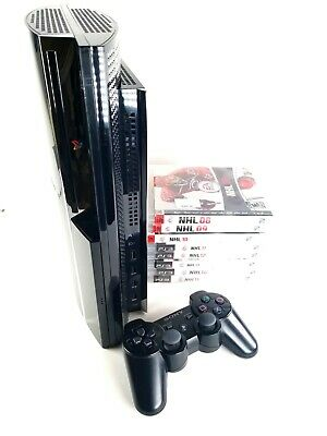 Sony PlayStation 3 Launch Edition 60GB Piano Black Console (CECH-A01) NHL 08-15