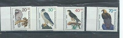 Berlin West Germany stamps. 1973 Youth Welfare Birds of Prey set MNH  (F276)