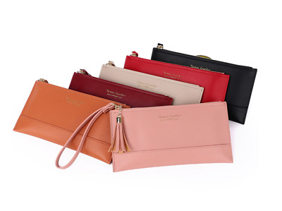 New Classic Elegant Simple Colour Ladies Girls Purse Clutch Wallet Zipper Card