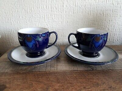 Denby Baroque Tea Cup and Saucer X 2. Very Good Condition. Hardly Used.