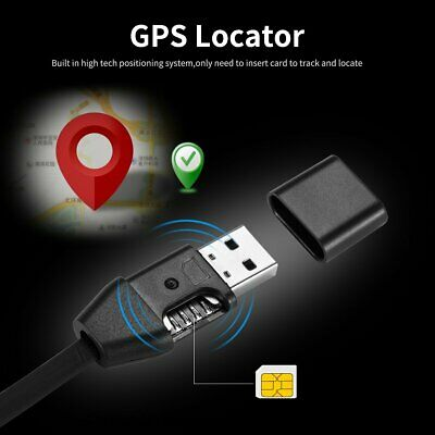 GPS Locator Tracker USB Charger Cable Data Line Android Real Time Tracking S8