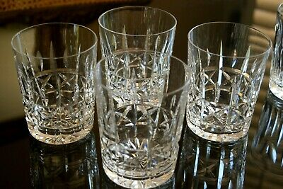 Vtg.WATERFORD Crystal KYLEMORE Cut Set of 4 Double Old Fashioned Whisky Tumblers