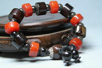 Collectable Rare Agate Polishing Brown Beads Auspicious Exquisite Hand Catenary
