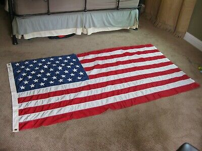 49 Star U.S. Ensign Flag Size 9   3.52 x 6.79  New old Stock