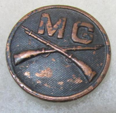 WW1 Infantry Machine Gun Battalion Collar Disc w/nut