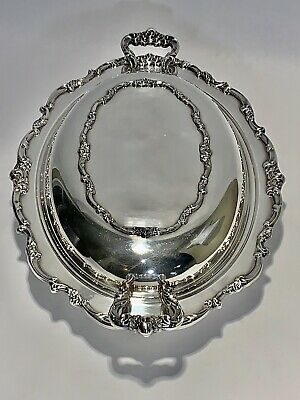 Stunning Antique Lunt Victorian Silver Plate Vegetable Dish Bowl With Covered