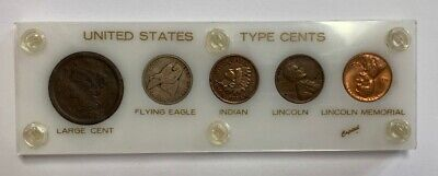 United States Type Cents 5 Coin Set Capitol Holder
