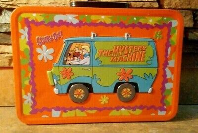"Vintage Scooby Doo Metal Tin Lunchbox 13""X9"" Mystery Machine 2000 Lunchbox RARE!"
