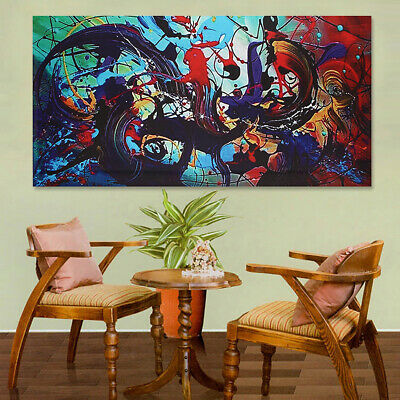 Abstract Modern Art Oil Painting Canvas Print Picture Unframed Room Wall Decor