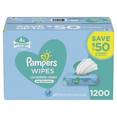 Pampers Fresh Scent Complete Clean Baby Wipes, 1200 ct.