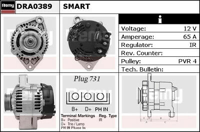 120A 451 Typ 1.0 Lichtmaschine ORIGINAL VALEO Smart  Fortwo Coupe ST35C017