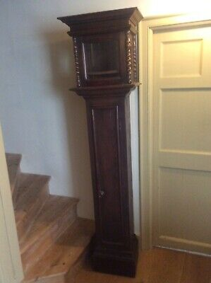 17th century stained pine longcase clock case (no movement) c1680-1690